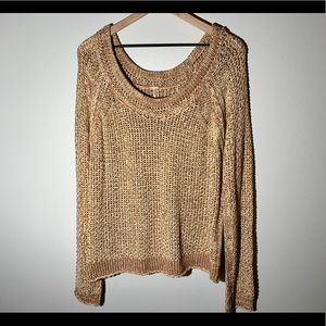 Free People Scoop Neck Knit Sweater